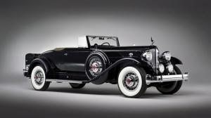 Siyah Klasik Otomobil 2 Araçlar Kanvas Tablo