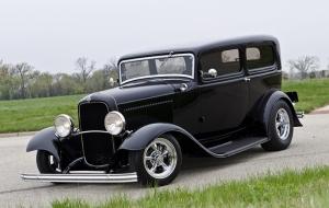 Siyah Klasik Otomobil Kanvas Tablo