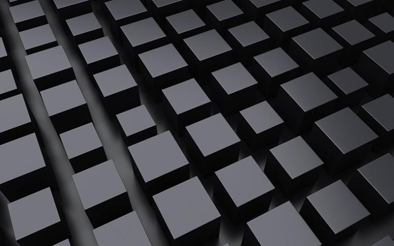 Siyah Küpler Abstract Dijital ve Fantastik Kanvas Tablo