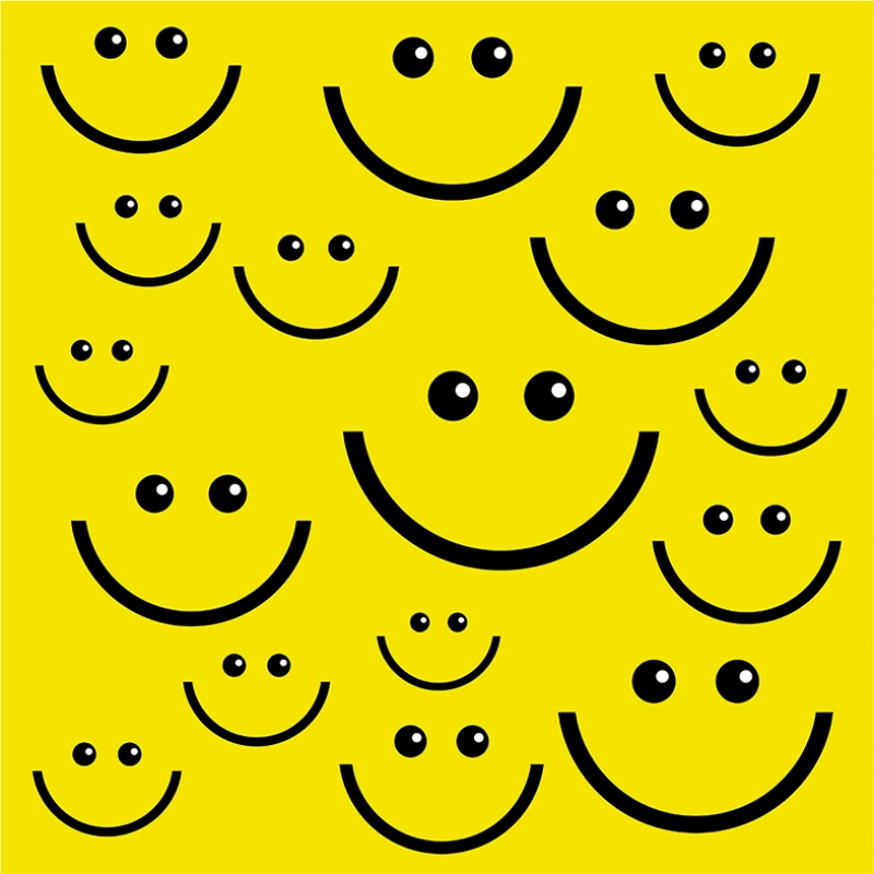 Smiley Abstract Dijital ve Fantastik Kanvas Tablo