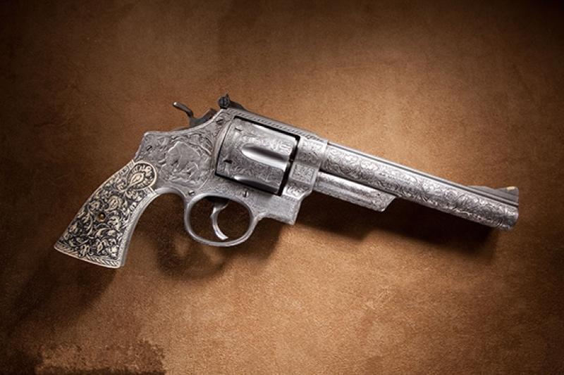 Smith Wesson Eski Tarihi Tabanca Kanvas Tablo
