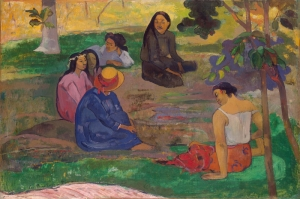 Sohbet, Conversation Paul Gauguin Reproduksiyon Kanvas Tablo