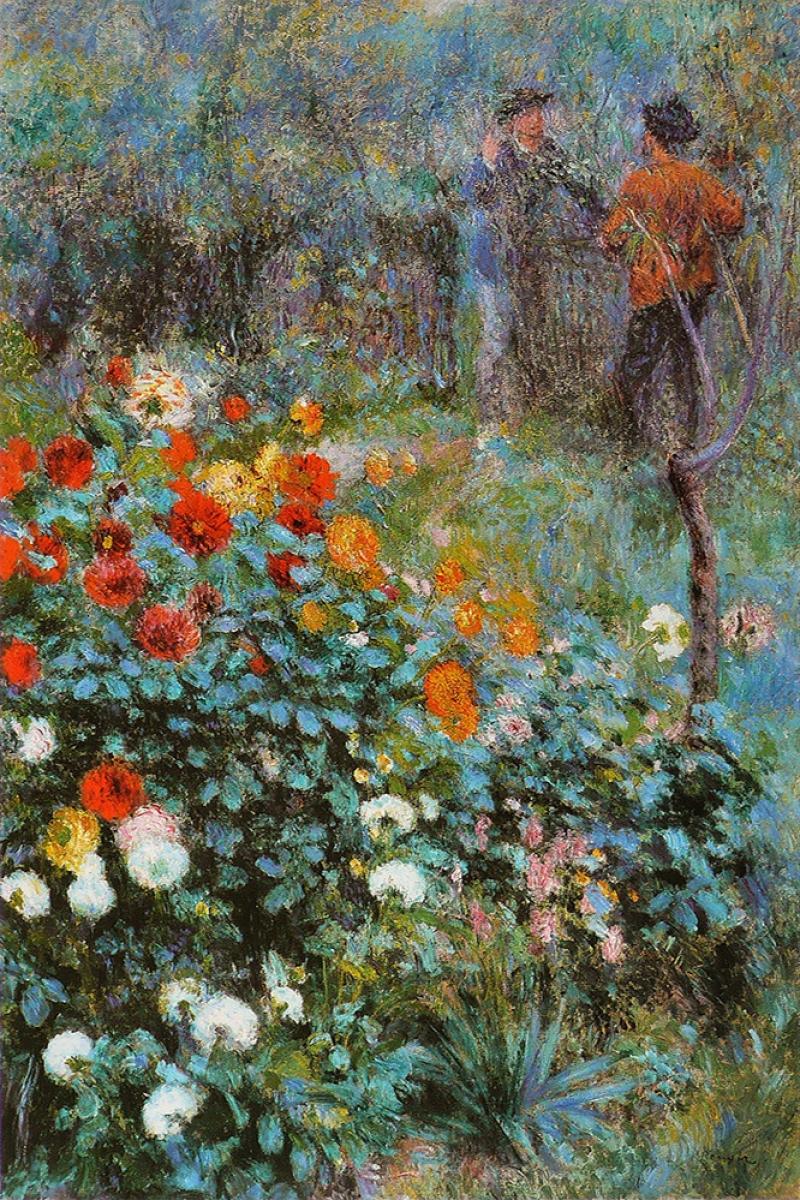 Sokak Bahçesi, Pierre August Renoir, Jardin De La Rue Cortot Klasik Sanat Kanvas Tablo