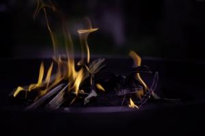 Şömine Ateşi Abstract Kanvas Tablo