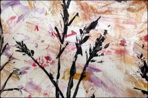 Sonbahar Çiçekleri 1 Yağlı Boya Dekoratif Modern Kanvas Tablo