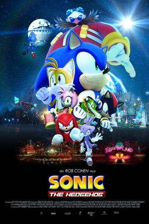 Sonic The Hedgeho Film Afişi Sinema Kanvas Tablo