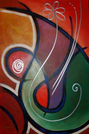 Soyut-2 Abstract Sanat Kanvas Tablo