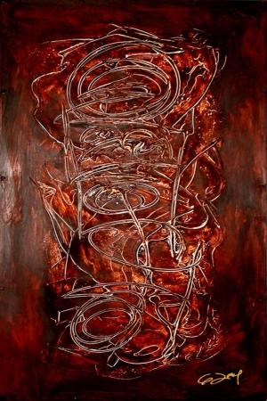 Soyut-7 Abstract Sanat Kanvas Tablo