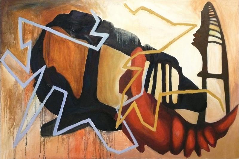 Soyut, Abstract-1 Dekoratif İç Mekan Kanvas Tablo