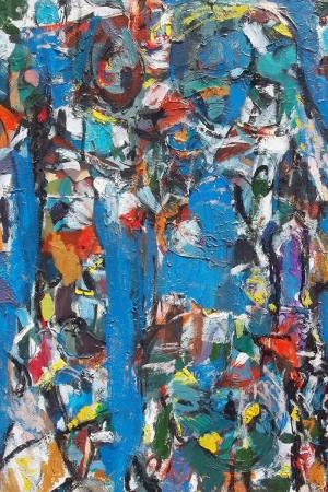 Soyut Abstract Renkler-3 Kanvas Tablo