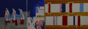 Soyut Pastel Renkler Kanvas Tablo