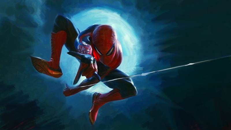 Spiderman Çizgi Roman 2 Süper Kahramanlar Kanvas Tablo