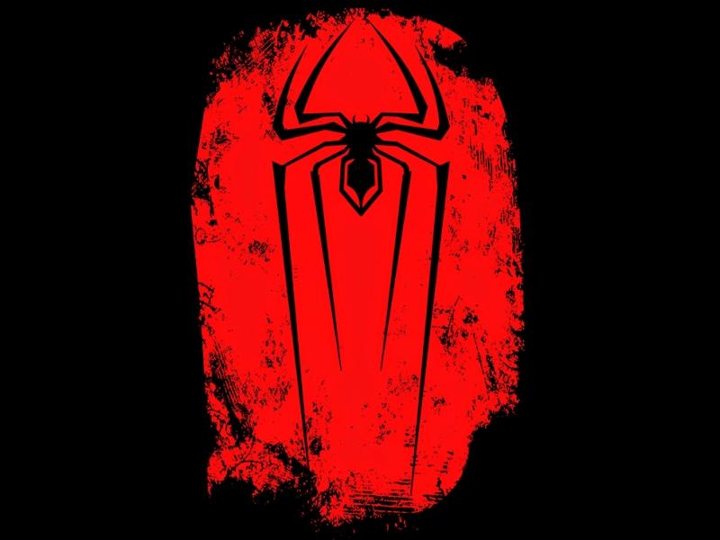 Spiderman Logo 2 Süper Kahramanlar Kanvas Tablo