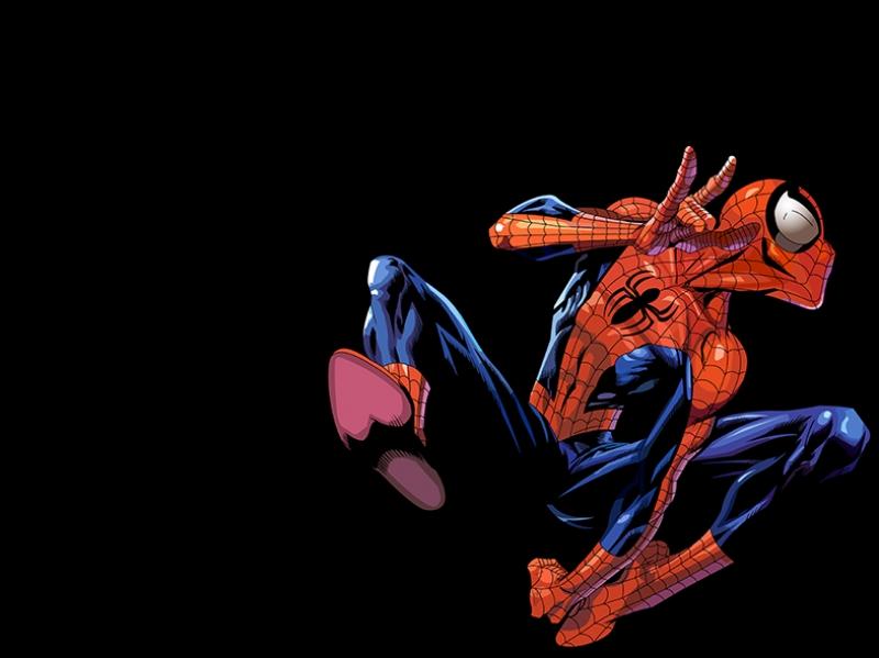 Spiderman Örümcek Adam Çizgi Film-2 Süper Kahramanlar Kanvas Tablo