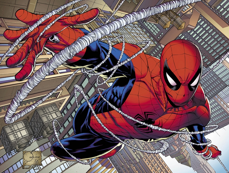 Spiderman Örümcek Adam Çizgi Film Süper Kahramanlar Kanvas Tablo