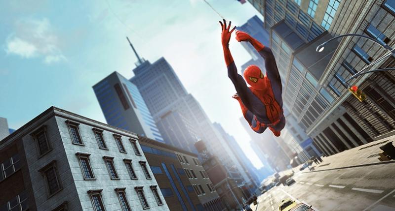 Spiderman Örümcek Adam Şehirde Süper Kahramanlar Kanvas Tablo