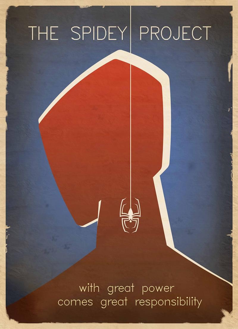 Spiderman Poster Retro & Motto Kanvas Tablo