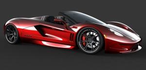 Spor Otomobil Kırmızı Kanvas Tablo
