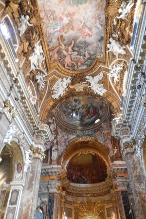 St. Peters Bascilica Kilisesi İç Görünüm Vatikan İtalya-5 Dini İnançlar Kanvas Tablo