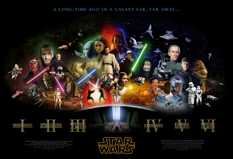 Star Wars Afiş Kolaj Kanvas Tablo