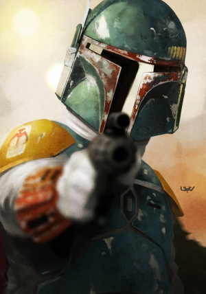 Star Wars Boba Fett Kanvas Tablo