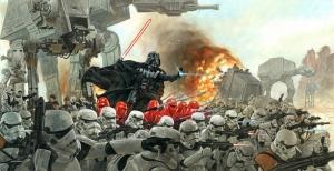 Star Wars Darth Wader Savaş Kanvas Tablo