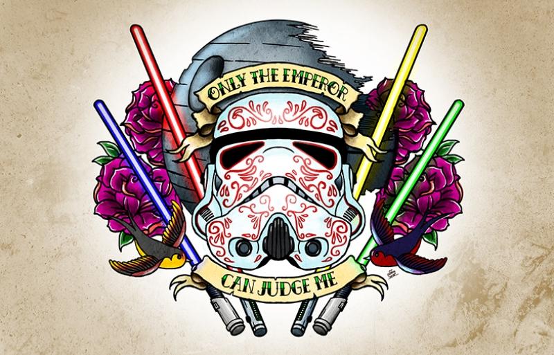 Star Wars Dövme Popüler Kültür Kanvas Tablo