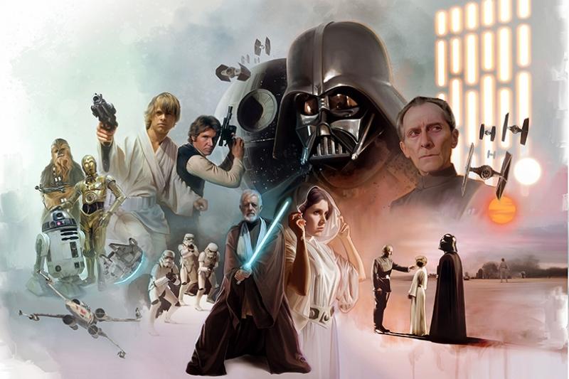 Star Wars Karakter Poster Star Wars Kanvas Tablo
