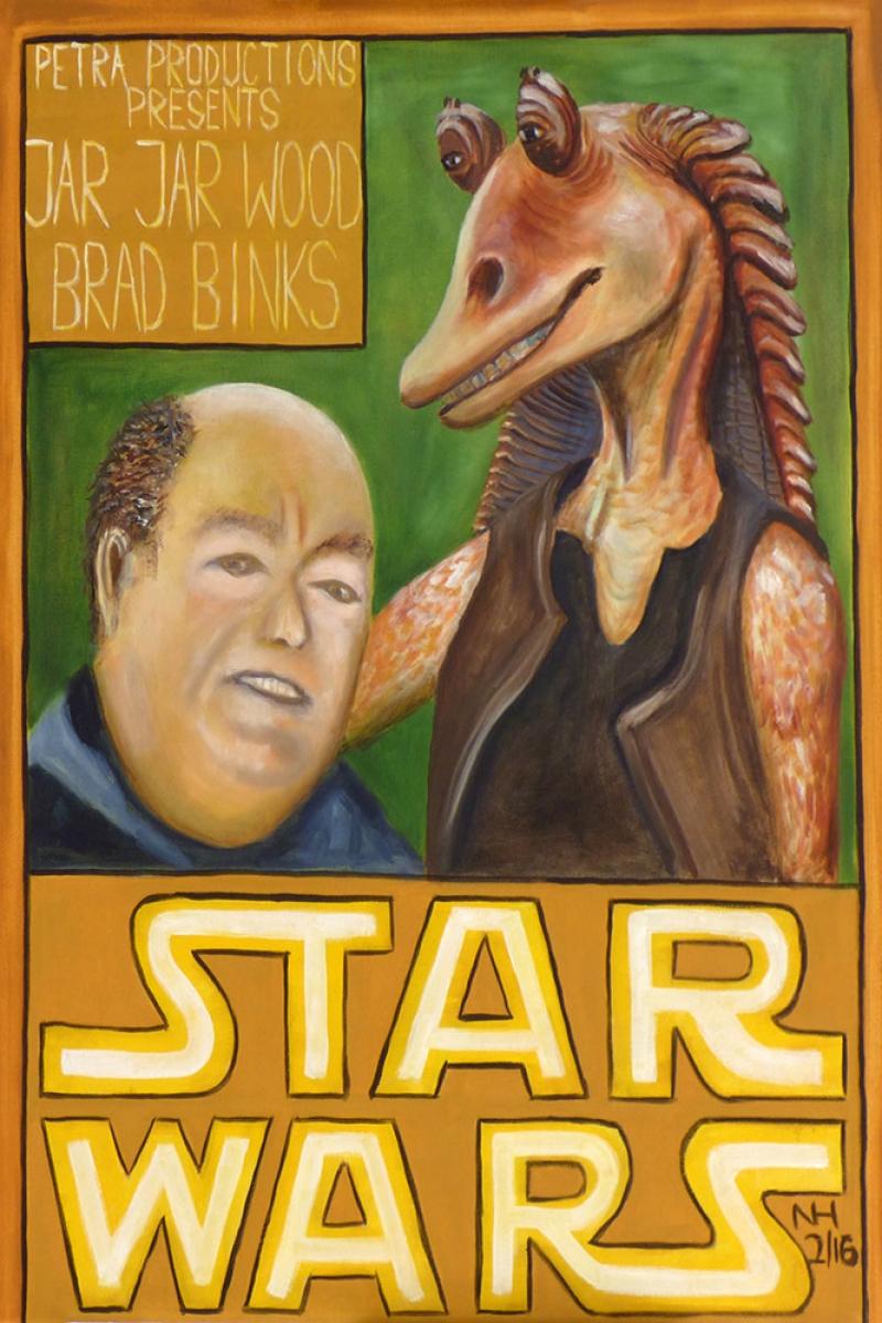Star Wars Komedi Yorum Yagli Boya Sanat Kanvas Tablo