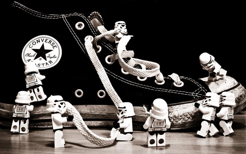 Star Wars Lego Converse Popüler Kültür Kanvas Tablo