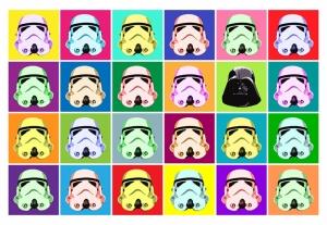 Star Wars Poster-2 Popüler Kültür Kanvas Tablo