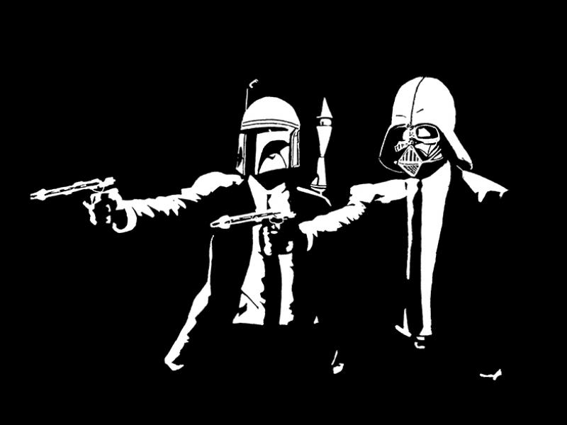 Star Wars Pulp Fuction Popüler Kültür Kanvas Tablo