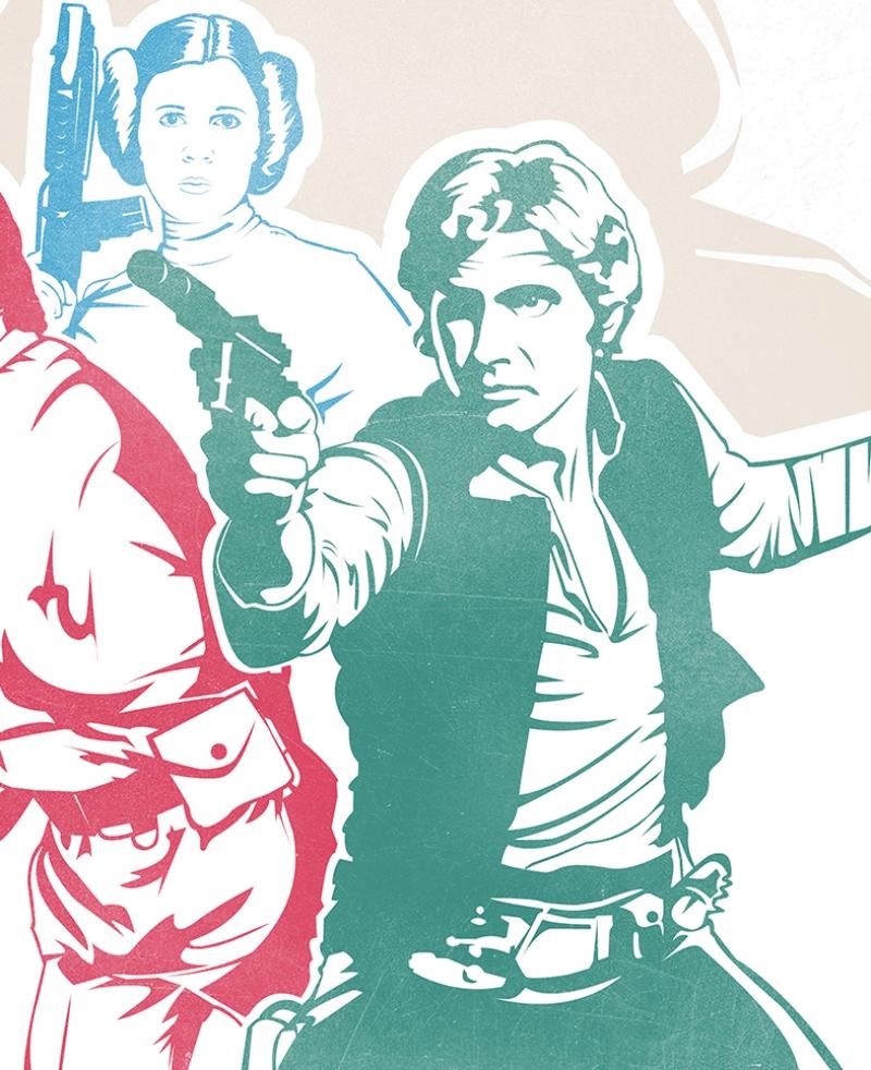 Star Wars Retro Afiş Kanvas Tablo