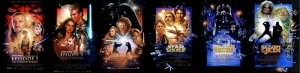 Star Wars Tüm Filmler Afiş Kanvas Tablo