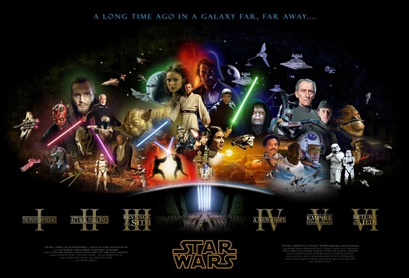 Star Wars Tüm Karakterler Star Wars Kanvas Tablo