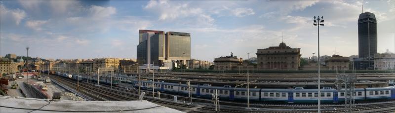 Stazione Brignole Tren İstasyonu Panaromik Kanvas Tablo