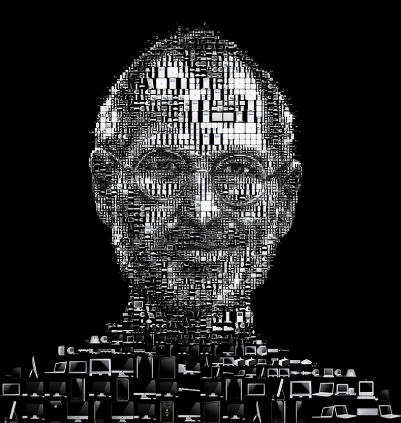 Steve Jobs Kolaj Apple-2 Popüler Kültür Kanvas Tablo