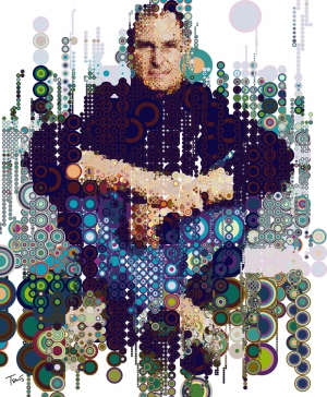 Steve Jobs Kolaj Apple Popüler Kültür Kanvas Tablo