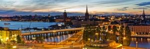 Stockholm İsveç Akşam Manzarası Şehir Manzaraları Kanvas Tablo