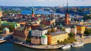 Stockholm Şehir Manzarası Dünyaca Ünlü Şehirler Kanvas Tablo