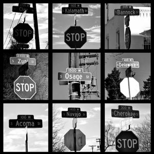 Stop Tabelaları Fotoğraf Kanvas Tablo