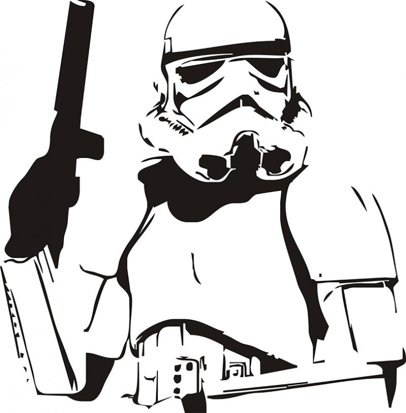 Stormtrooper Çizim Star Wars Kanvas Tablo