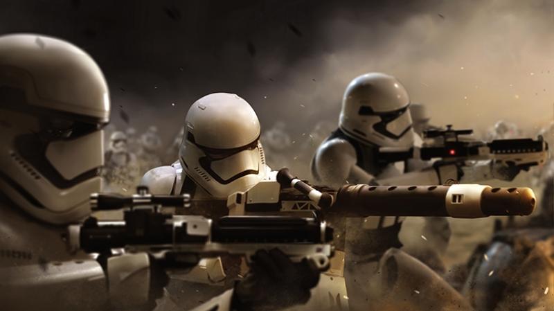 Stormtrooper Saldırı Star Wars Kanvas Tablo