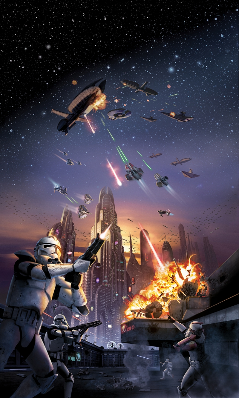 Stormtrooper Savaş Star Wars Kanvas Tablo
