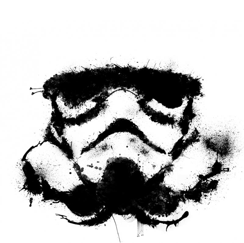 Stormtrooper Siyah Beyaz Popüler Kültür Kanvas Tablo