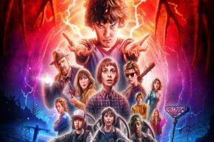 Stranger Things Poster Kanvas Tablo
