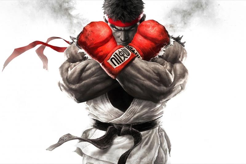 Street Fighter 1 Boks Spor Kanvas Tablo