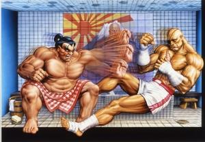 Street Fighter Popüler Kültür Kanvas Tablo