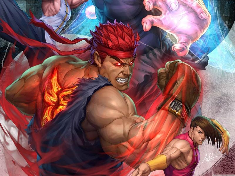 Street Fighter V Popüler Kültür Kanvas Tablo