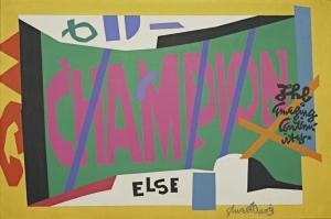 Stuart Davis Viza Yagli Boya Klasik Sanat Kanvas Tablo